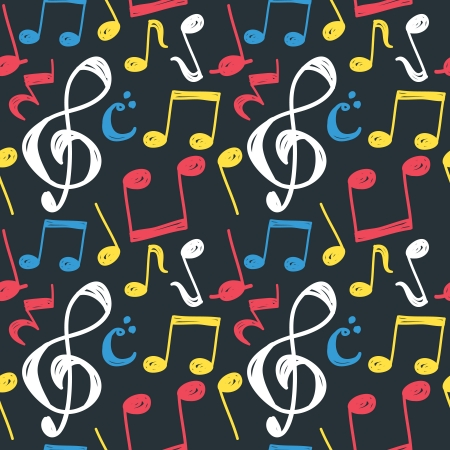 music note pattern Vector