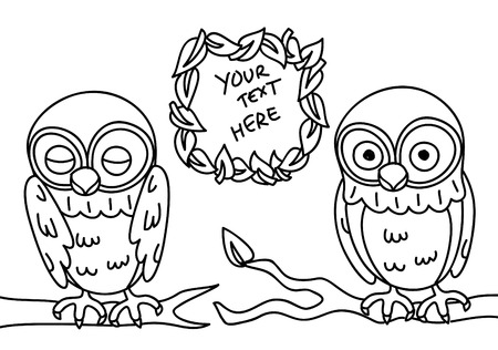 owl line art Vector