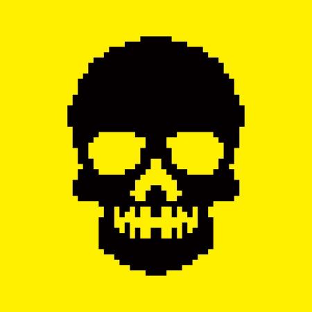 pixel skull Vector