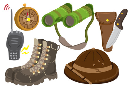 hiking boots: safari gear icon