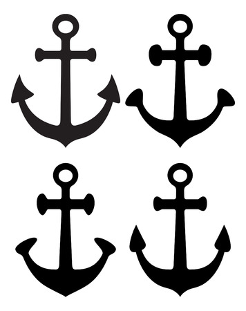 cip: set of anchor Illustration