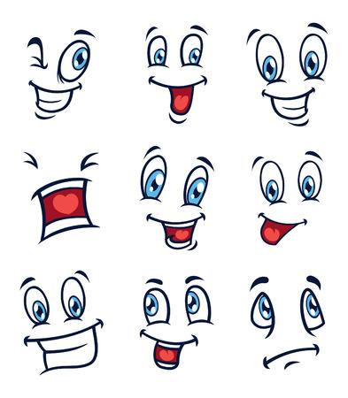 emozioni: serie di cartoon faccia