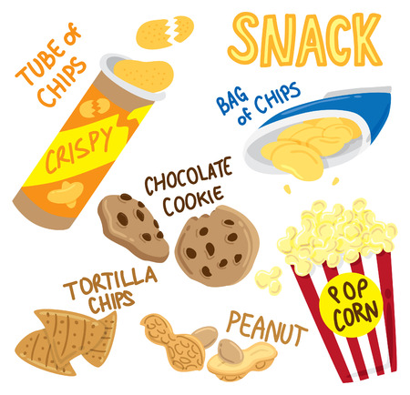 cartoon snack Vector