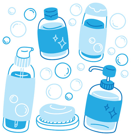 set of various liquid soap Vector