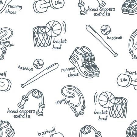 sport equipment: sport equipment pattern