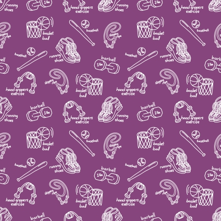 sport equipment pattern Vector