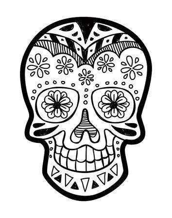 skull drawing: sugar skull