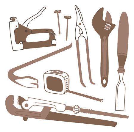 crowbar: various tools icon Illustration