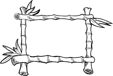 marcos decorados: marco de bambú incompleta