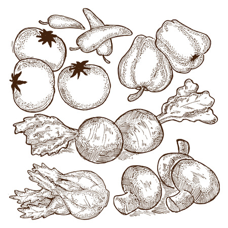 sketchy raw vegetables