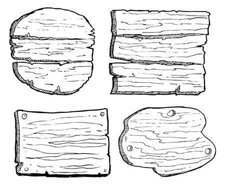 grunge wooden plank Vector