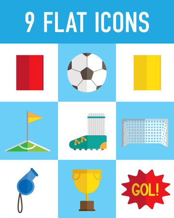 Soccer flat icon Illustration