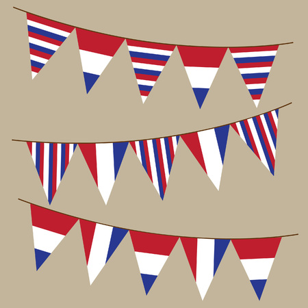 Netherlands bunting flags vector illustration.
