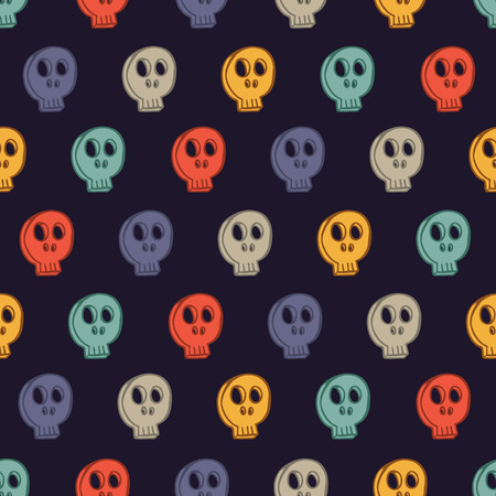 tile pattern: Cute skull background