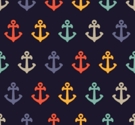 repeated: colorful anchor pattern