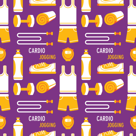 repeated: Fitness stuff seamless background