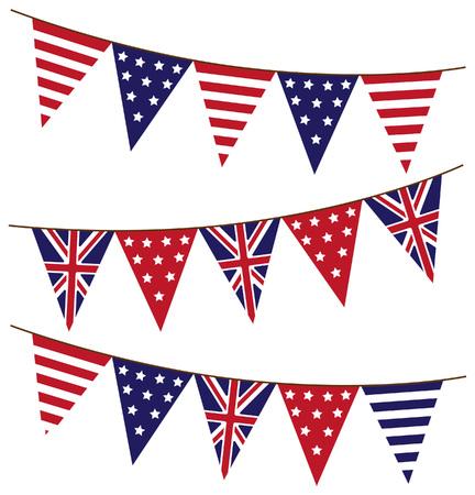 Bunting vlag van Engeland Stock Illustratie