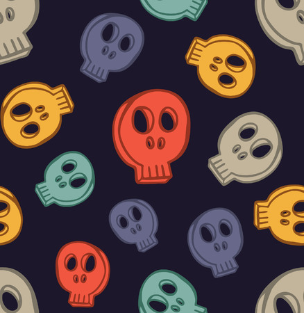 repeated: cute skull background