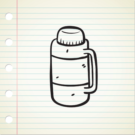Vacuum flask doodle Illustration