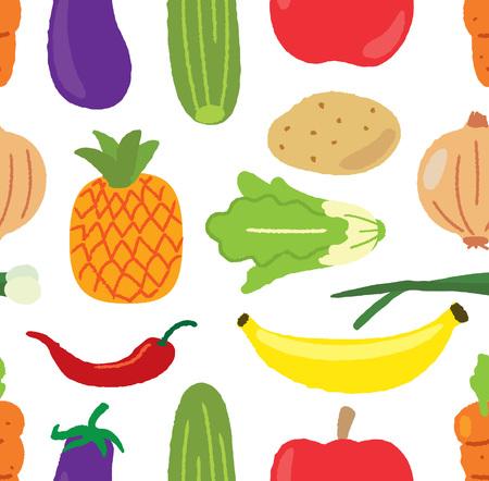 Vegetable doodle background