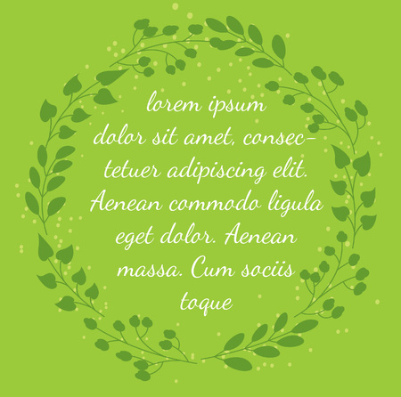 wreath with place to add text
