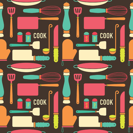 Cooking equipment seamless background