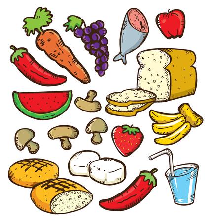 Food doodle set