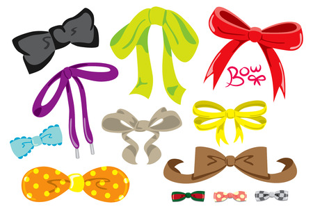 Set of colorful bow tie