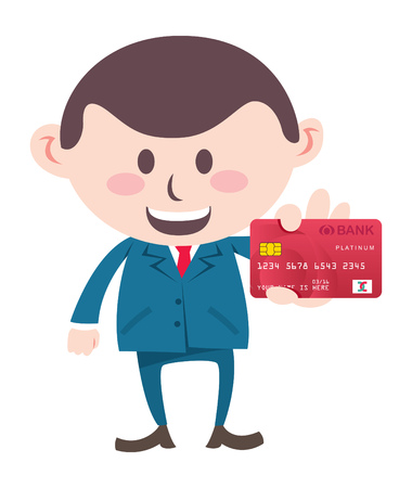 Business man showing credit card