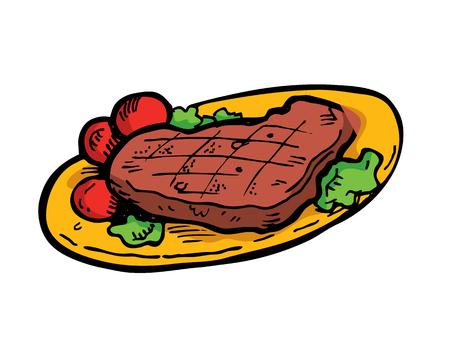 Steak doodle
