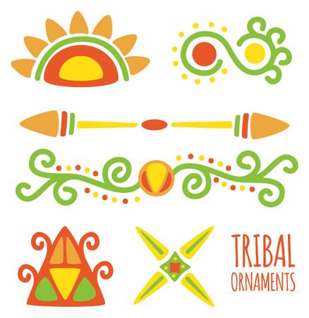 部族のデザイン要素の図。