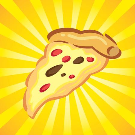 pizza icon on burst background