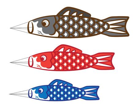 Koinobori, japanese traditional kite