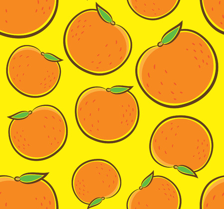 Orange fruit seamless background