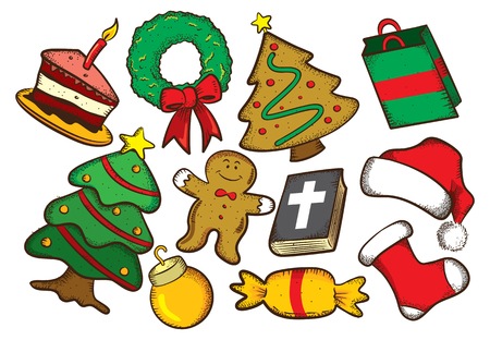Christmas doodle Illustration