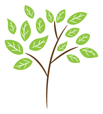 bark: Simple branch vector illustration Illustration