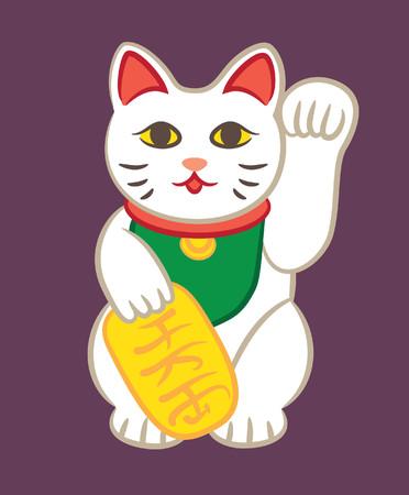 Fortune cat statue Illustration