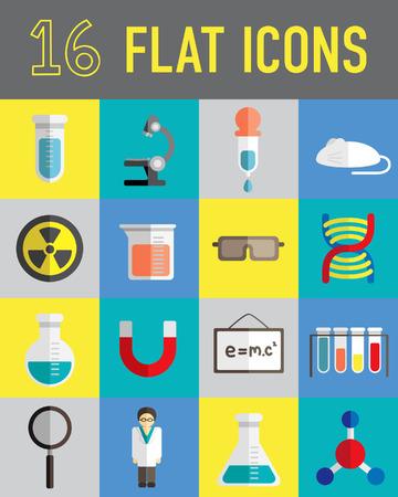 Science flat icon Illustration