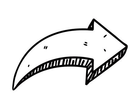 Hand drawn arrow doodle