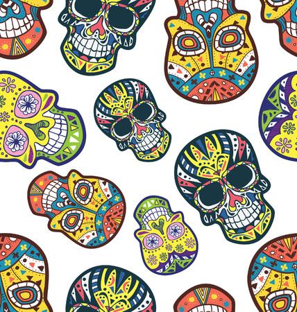 Sugar skull seamless background Imagens - 87987399