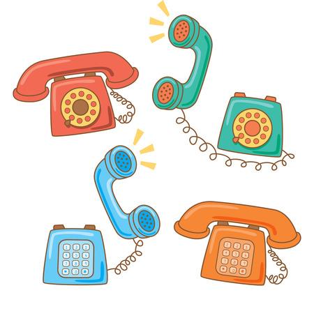 Retro telephone doodle