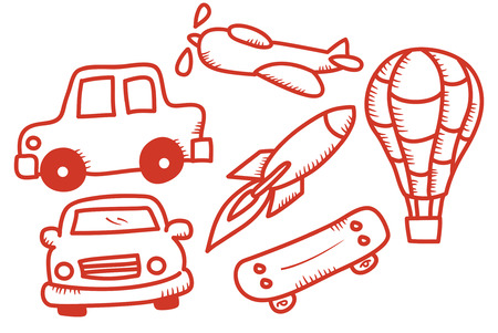 stuff toys: Set of vehicle toy doodle