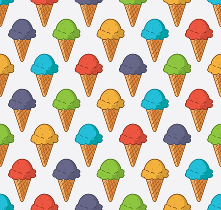 Colorful ice cream background. Vector illustration.
