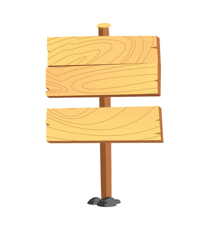 Wooden plank vector illustration.