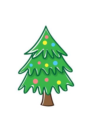 Christmas tree doodle