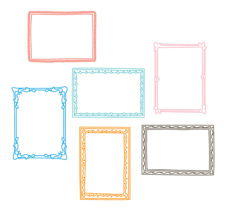 Set of frame doodle isolated on white background. Standard-Bild - 85053311