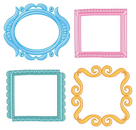 Set of frame doodle isolated on white background. Standard-Bild - 85053313