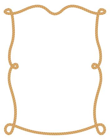 Rope frame. Imagens - 85053312