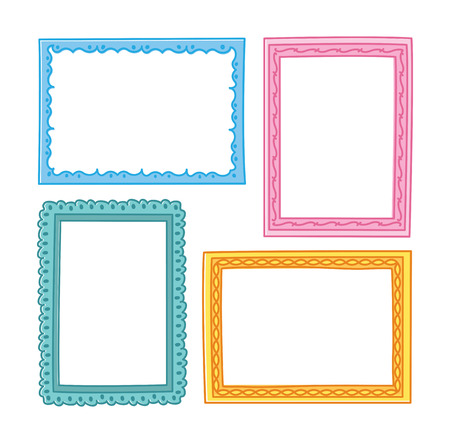 Set of frame doodle isolated on white background. Imagens - 85053315