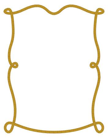Rope frame. Фото со стока - 85053319